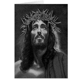 Tarjeta de felicitación de Jesús B&W