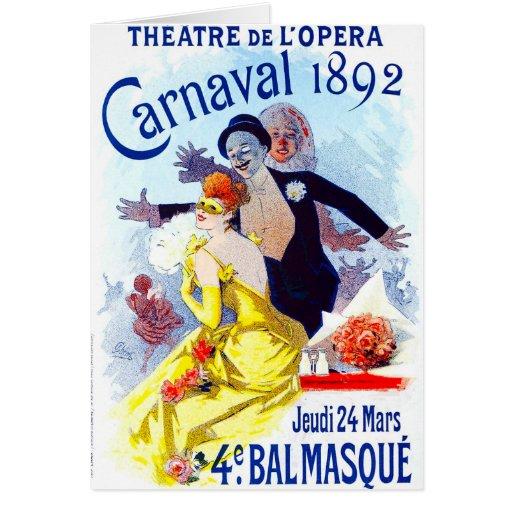 Tarjeta de felicitación de Julio Cheret Carnaval