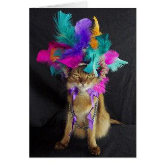 Tarjeta de felicitación de Kitteh del carnaval,