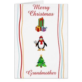 Tarjeta de felicitación de la abuela de Navidad
