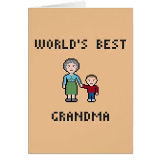 Tarjeta de felicitación de la abuela del mundo del