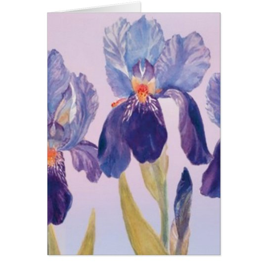 Tarjeta de felicitación de la acuarela del iris