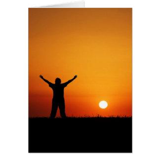 Tarjeta de felicitación de la adoración de la