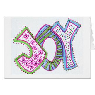 Tarjeta de felicitación de la alegría