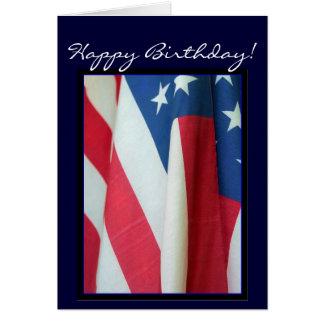 Tarjeta de felicitación de la bandera americana