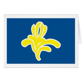 Tarjeta de felicitación de la bandera de Bruselas