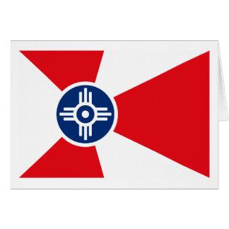 Tarjeta de felicitación de la bandera de Wichita