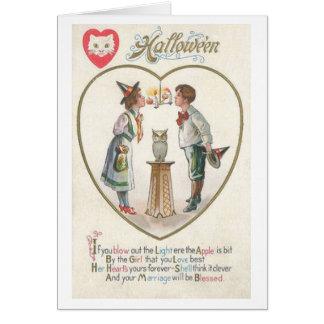Tarjeta de felicitación de la bendición de la boda