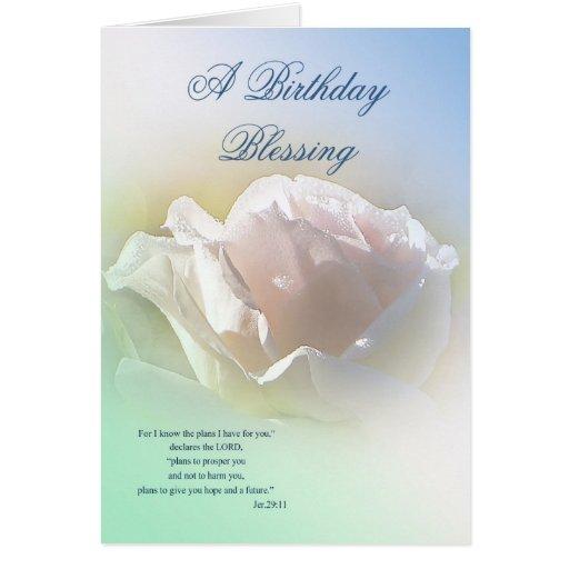 Tarjeta de felicitación de la bendición del cumple