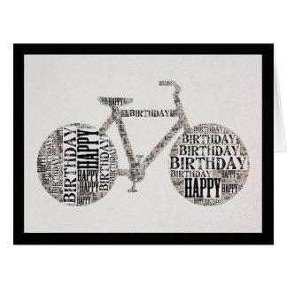 Tarjeta de felicitación de la bicicleta de la tipo