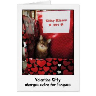 Tarjeta de felicitación de la cabina del gatito de