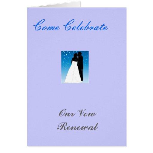 Tarjeta de felicitación de la celebración del boda