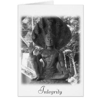 Tarjeta de felicitación de la cita de Buda de la