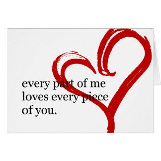Tarjeta de felicitación de la cita del amor del