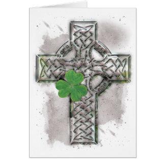 Tarjeta de felicitación de la cruz céltica