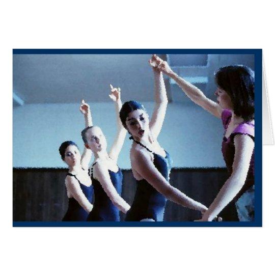 Tarjeta de felicitación de la danza