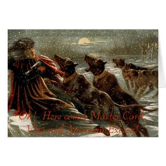Tarjeta de felicitación de la deuda del navidad