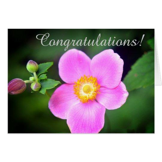 Tarjeta de felicitación de la enhorabuena