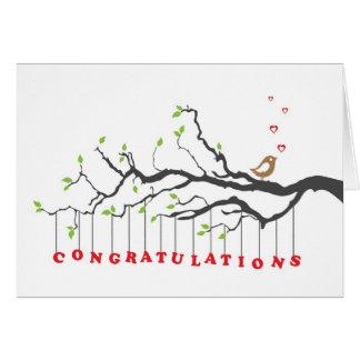 Tarjeta de felicitación de la enhorabuena con el