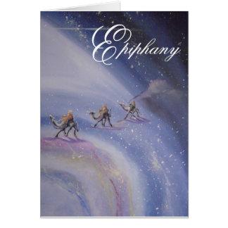 Tarjeta de felicitación de la epifanía
