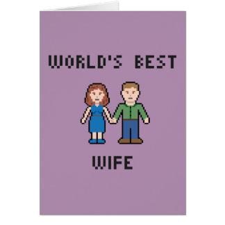 Tarjeta de felicitación de la esposa del mundo del