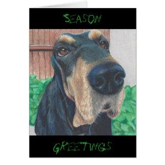 tarjeta de felicitación de la estación del perrito