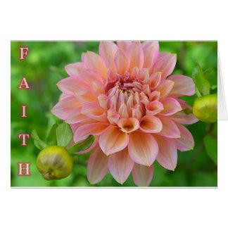 Tarjeta de felicitación de la fe