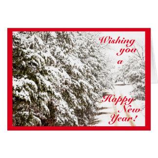 Tarjeta de felicitación de la Feliz Año Nuevo