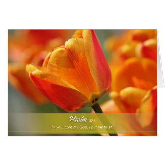 Tarjeta de felicitación de la flor