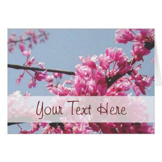Tarjeta de felicitación de la flor de cerezo