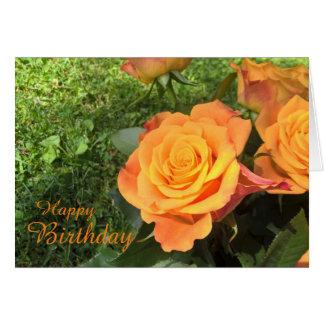 Tarjeta de felicitación de la flor del cumpleaños