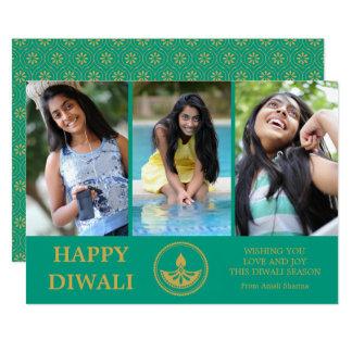 Tarjeta de felicitación de la foto de Diwali -