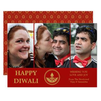 Tarjeta de felicitación de la foto de Diwali del