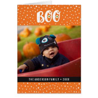 Tarjeta de felicitación de la foto de Halloween