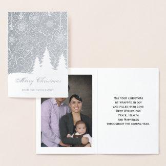 Tarjeta Con Relieve Metalizado Tarjeta de felicitación de la foto de las Felices