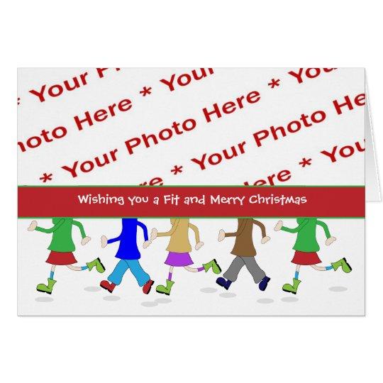 Tarjeta de felicitación de la foto del navidad de