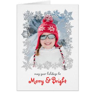 Tarjeta de felicitación de la foto del navidad del