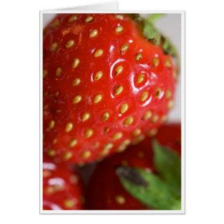 Tarjeta de felicitación de la fresa