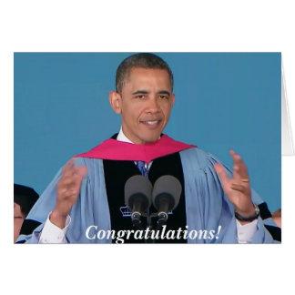 Tarjeta de felicitación de la graduación de Barack