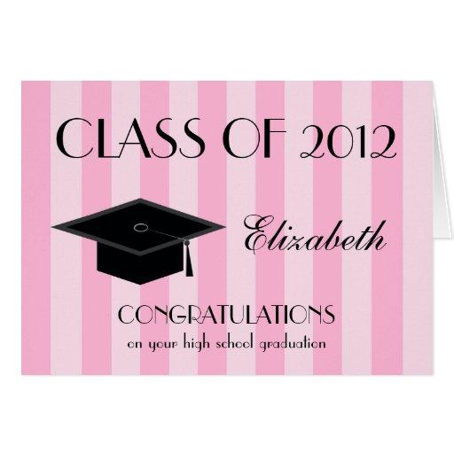 Tarjeta de felicitación de la graduación de estudi