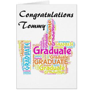 Tarjeta de felicitación de la graduación de la