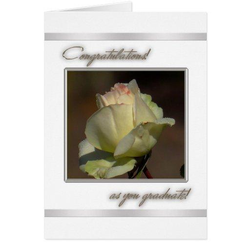 Tarjeta de felicitación de la graduación de la enh