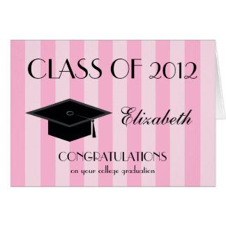 Tarjeta de felicitación de la graduación de la uni