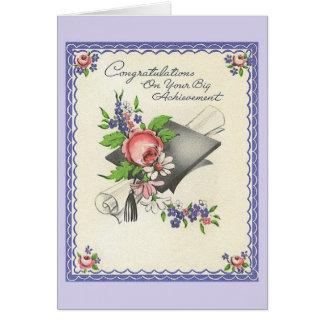 Tarjeta de felicitación de la graduación del