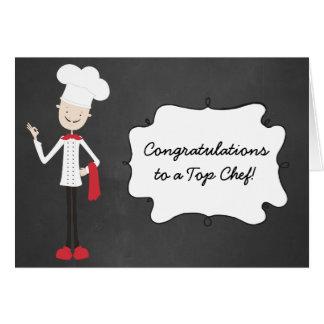Tarjeta de felicitación de la graduación del cocin