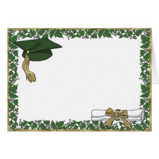 Tarjeta de felicitación de la graduación (hiedra)