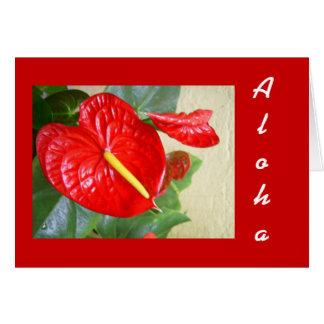 Tarjeta de felicitación de la hawaiana