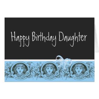 Tarjeta de felicitación de la hija del feliz cumpl