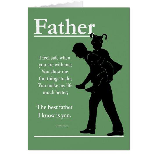 Tarjeta de felicitación de la hija del padre