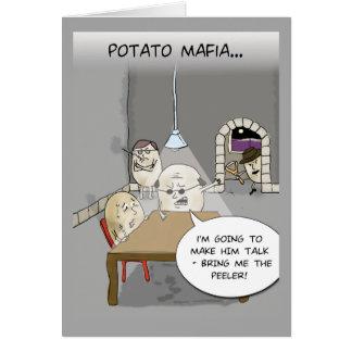 Tarjeta de felicitación de la mafia de la patata